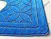 """Коврик для туалета 50х60 см """"Тритон """" с вырезом, цвет синий, фото 8"""