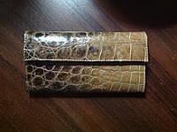 Женские портмоне из натуральной кожи крокодила разных цветов!
