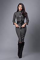 Костюм мод №269-5, размеры 44 серая комби клетка, фото 1