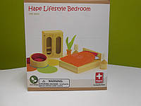 Игрушечный набор мебели Спальня из бамбука