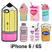 3D Чехол для iPhone 6/6s Силиконовый Рельефный Бампер