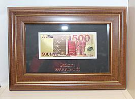 Панно подарочное Банкнота 500 EUR HB- 045
