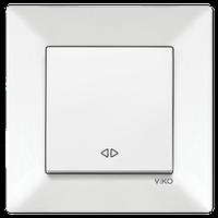 Выключатель 1-кл. перекрестный Viko Meridian белый