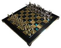 Шахматы в деревянном футляре с фигурами из латуни Геркулес и полубоги Олимпа 36*36 см S7GREEN зеленый