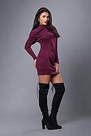 Платье мод №268-5, размеры 40,42-48 марсала