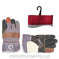 Перчатка комбинированная из кожи и ткани 10.5