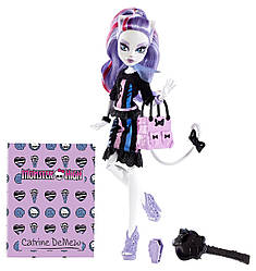 Кукла Monster High Кетрин де Мяу Новый Скарместр, Монстер Хай New Scaremester Catrine DeMew