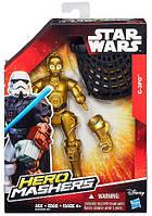 C-3PO - фигурка Звездные войны: Hero Mashers, 15 см, Star Wars, Hasbro (B3656-2)