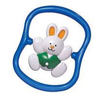 Погремушка кролик вращающийся синего цвета, Tolo (86175 B)