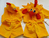 Карнавальные костюмы Курочки и Петушка ,возраст 2-6 лет S779