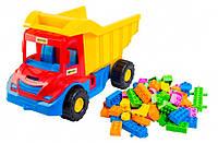 Multi truck грузовик с конструктором (красно-синяя кабина), Wader  (39221-2)