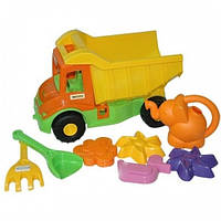 Multi truck грузовик с набором для песка с лейкой 8 эл, Wader (39206)
