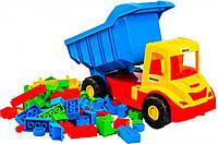 Multi truck грузовик с конструктором  (сине-желтая кабина), Wader (39221-1)