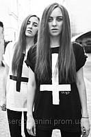 Футболка женская с принтом Перевернутый крест