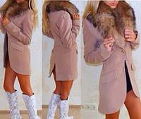 Пальто фрак женское  кашемировое