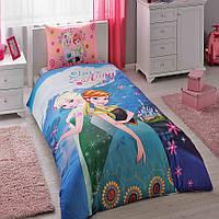 Комплект постельного белья для девочки TAC Frozen Elsa and Anna, ранфорс