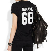 """Футболка женская с принтом """"SLIMANE 68"""""""
