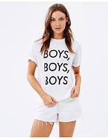 Футболочка женская с принтом Boys Boys Boys