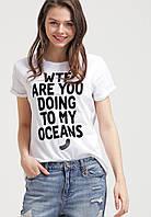 Футболочка женская с принтом G-Star RAW FOR THE OCEANS OCCOTIS