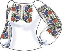 СВЖБ-54. Заготовка Жіноча сорочка лляна біла