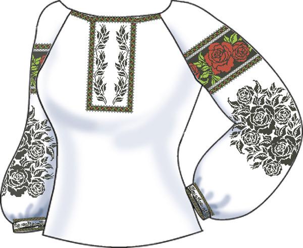 СВЖБ-55. Заготовка Жіноча сорочка лляна біла 1cb468ff763bc