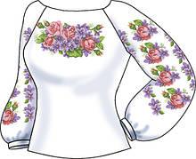 СВЖБ-57. Заготовка Жіноча сорочка лляна біла