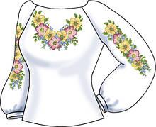 СВЖБ-58. Заготовка Жіноча сорочка лляна біла