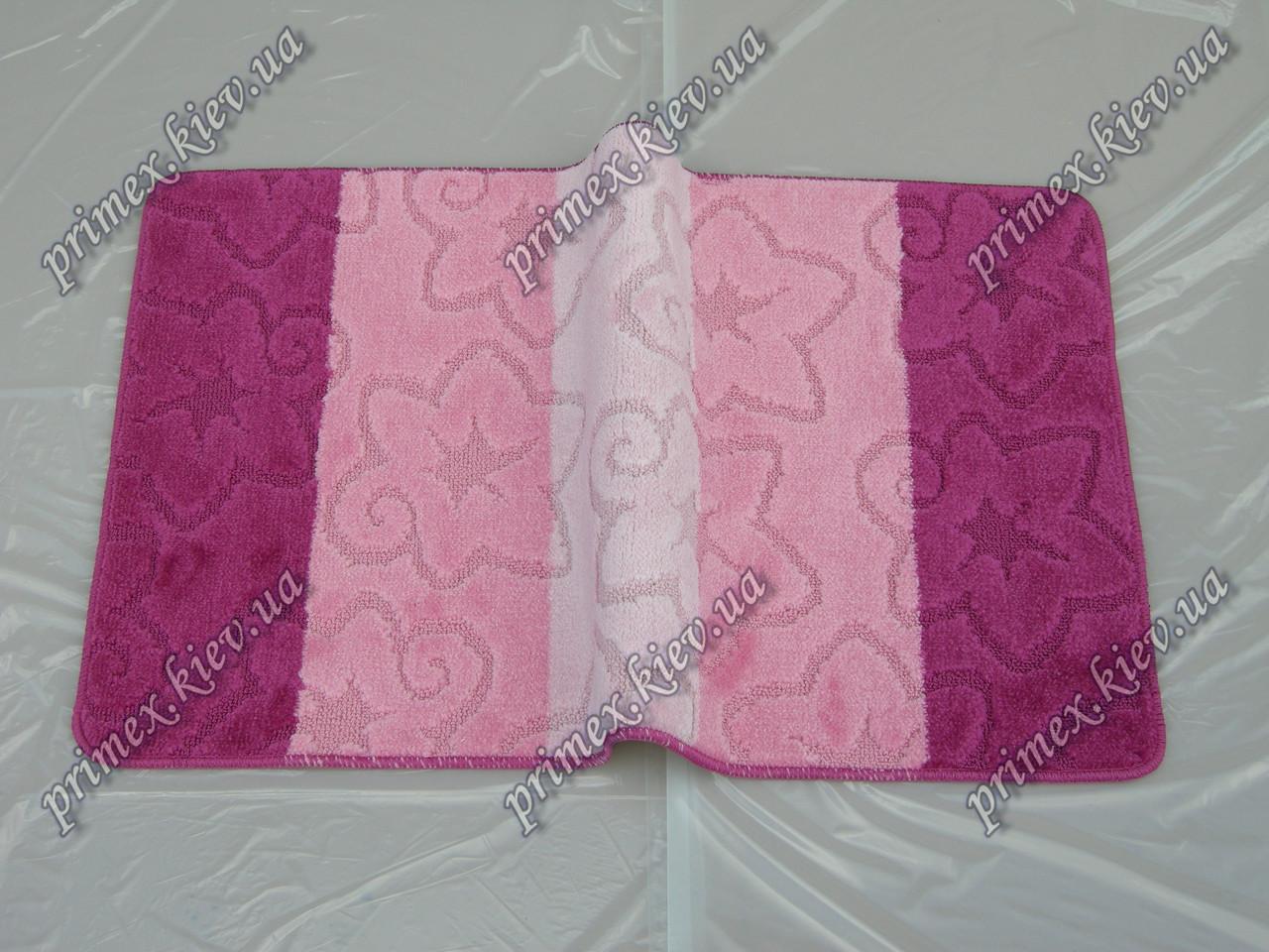 """Коврик для ванной 60х100 см """"Морская звезда"""", цвет розовый"""