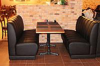 Перетяжка и ремонт ресторанной мягкой мебели