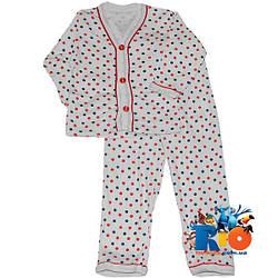 """Детская пижама """"Горошек"""" , cotton , для девочек возрастом от 1-2 года"""