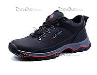 Зимние ботинки Columbia, мужские, на меху,  натуральная кожа, черные, р. 40