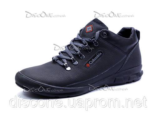 Зимние ботинки Columbia, мужские, на меху,  натуральная кожа, черные
