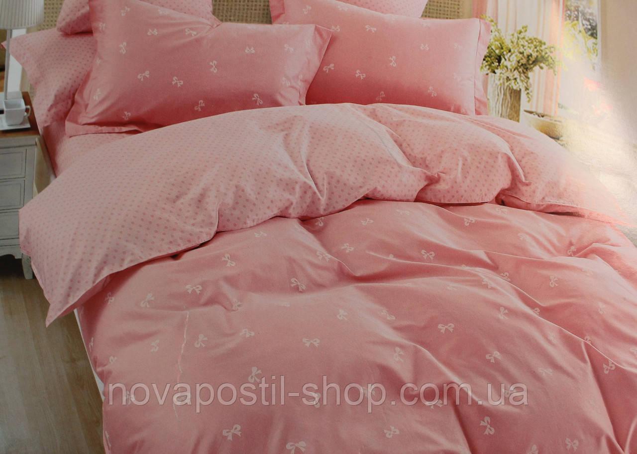 Постельное белье из сатина, Комплект Розовые бантики