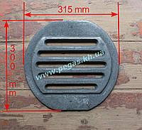 Колосник чугунный круглый буржуйка, тандыр, печи (300х315 мм)