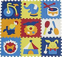 """5002003 Дитячий килимок-пазл """"Дивовижний цирк"""", 92х92 см"""