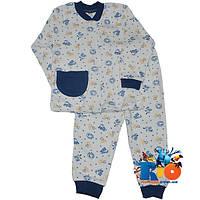"""Детская пижама """"Cute Animals"""" , cotton , для мальчика от  6-12-18 мес"""