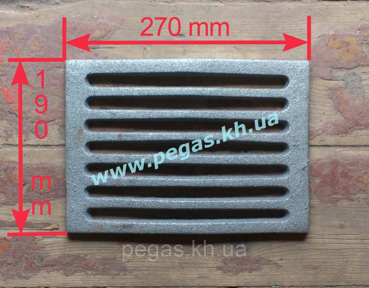 Колосник чугунное литье (190х270 мм) грубу, печи, барбекю, мангал