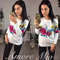 Ангоровый свитер с рисунком №223