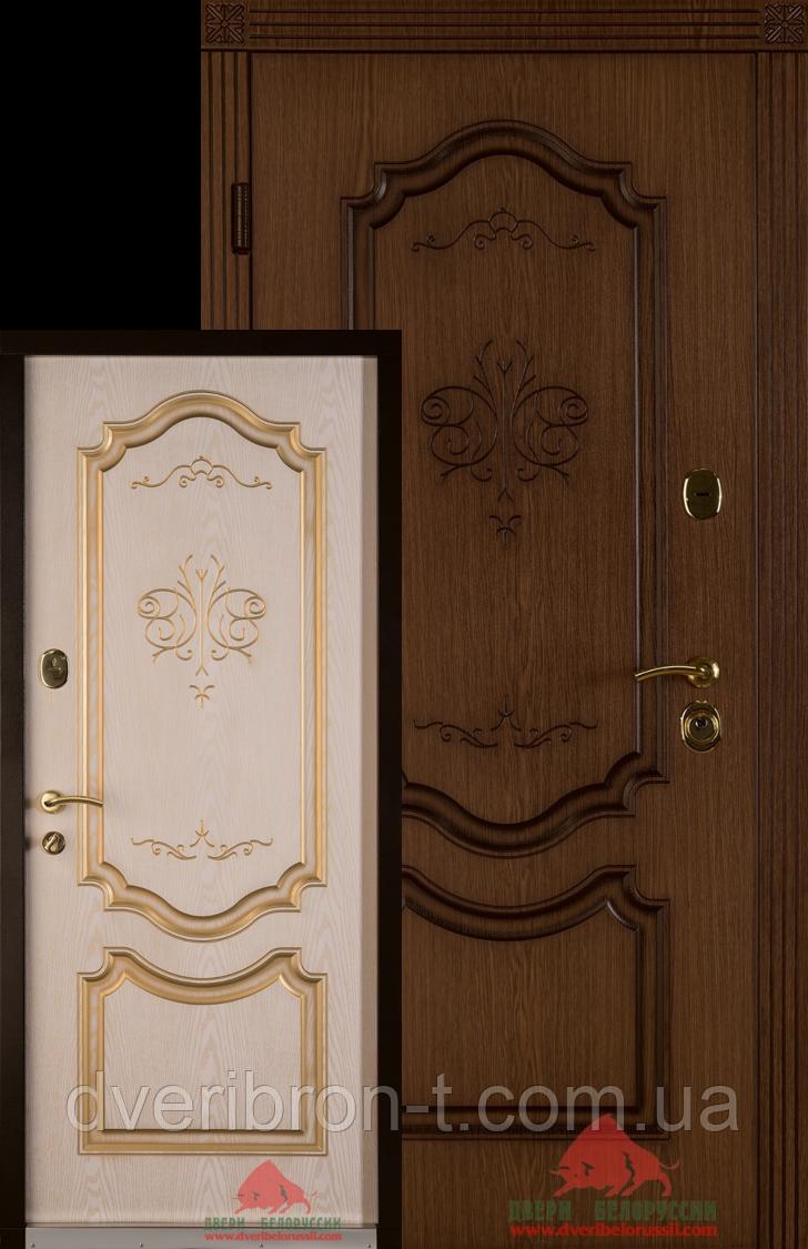 Входная дверь Престиж-В 880 патина дуб - декор ясень правое открывание