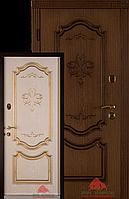Входная дверь Престиж-В 980 патина дуб - декор ясень