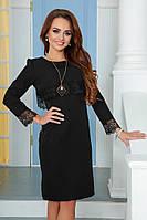 Силуэтное платье  с кружевом в двух расцветках 1025