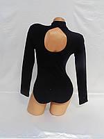 Купальник с воротником-стойка и длинным рукавом для танцев и гимнастики