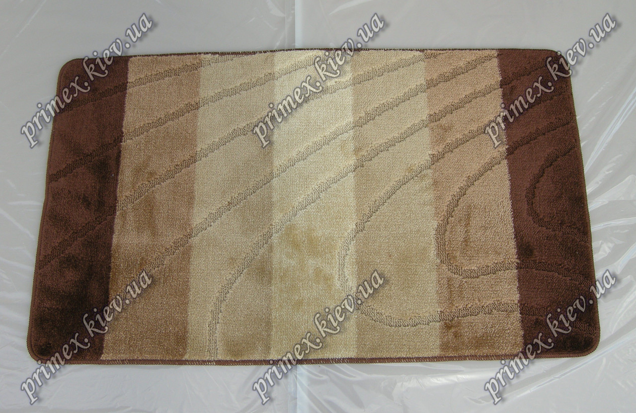 """Коврик для ванной 60х100 см """"Тихий океан """", цвет коричневый"""