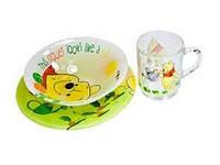Набор для детей Luminarc Disney Winnie Garden 3 предмета ударопрочное стекло (6435H)