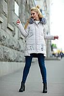 Куртка зимняя с натуральным мехом женская молодежная 42 - 48(50)