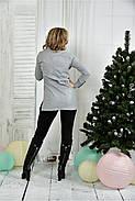 Женская удлиненная блуза больших размеров 0393  размер 42-74, фото 4