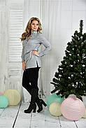 Женская удлиненная блуза больших размеров 0393  размер 42-74, фото 2