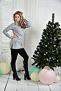 Женская удлиненная блуза больших размеров 0393  размер 42-74, фото 3