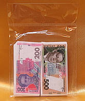 "Конфетти "" Деньги 200 и 500 гривен""."