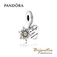 Шарм Pandora СНЕЖИНКА И СЕРДЦЕ #792012CZ серебро 925 Пандора оригинал